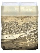 Cedar Rapids Iowa 1868 Duvet Cover