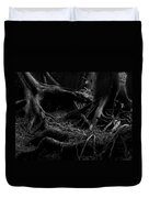 Cedar Roots Black And White Duvet Cover