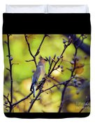 Cedar Waxwing With Windblown Crest Duvet Cover