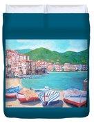 Cefalu In Sicily Duvet Cover
