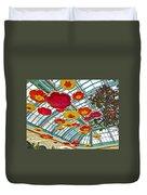 Ceiling Of Bellagio Conservatory In Las Vegas-nevada Duvet Cover