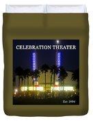 Celebration Movie Theater 1994 Duvet Cover