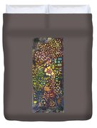Celebration Night - 1/2 Diptych  Duvet Cover