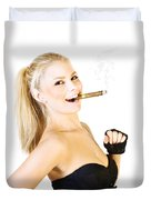 Celebration Of Fun And Success Duvet Cover