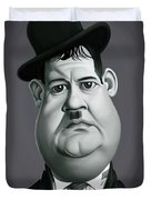 Celebrity Sunday - Oliver Hardy Duvet Cover