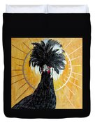 Celestial Chicken - Lady Hawk Duvet Cover