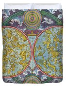 Celestial Map Of The Planets Duvet Cover by Georg Christoph Eimmart