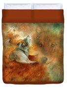 Celestial Wolves 2 Duvet Cover