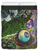 Cell Interior Microbiology Landscapes Series Duvet Cover