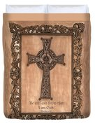 Celtic Cross Duvet Cover by Debbie DeWitt