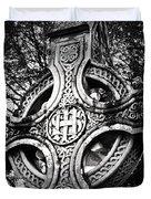 Celtic Cross Detail Killarney Ireland Duvet Cover
