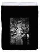 Celtic Cross Detail Killarney Ireland Duvet Cover by Teresa Mucha