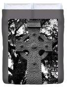 Celtic Cross In Emmet Park Duvet Cover
