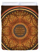Celtic Dragonfly Mandala In Orange And Brown Duvet Cover