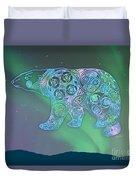 Celtic Polar Bear Duvet Cover by Kristen Fox