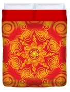 Celtic Tribal Sun Duvet Cover