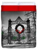 Celtic Yuletide Blessings Duvet Cover