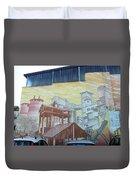 Cement And Graffiti 1 Duvet Cover