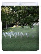 Cemetery At Shiloh National Military Park In Tennessee Duvet Cover