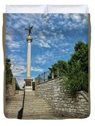 Cemetery Entrance And Lovejoy Monument  Duvet Cover