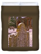 Cemetery Headstone  Duvet Cover