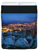 Cemetery Overlooking Fes, Morocco Duvet Cover