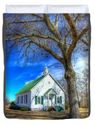 Centennial Christian Church Rural Greene County Georgia Duvet Cover