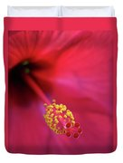 Center Of Attention - Hibiscus 01 Duvet Cover