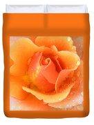 Center Of Orange Rose Duvet Cover