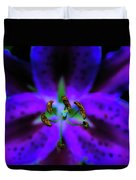 Center Of The Asiatic Lily Duvet Cover
