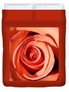 Center Of The Peach Rose Duvet Cover