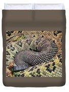 Central American Rattlesnakee Duvet Cover
