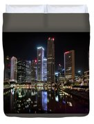 Central Business District, Singapore Duvet Cover