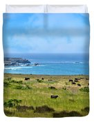 Central Coast Panorama - Hwy 1 Duvet Cover by Lynn Bauer
