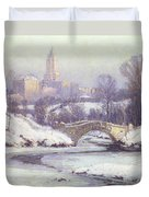 Central Park Duvet Cover by Colin Campbell Cooper