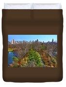 Central Park East Skyline Duvet Cover