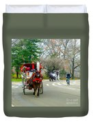 Central Park Horse And Buggy Rides New York City Duvet Cover