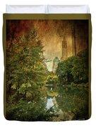 Central Park In Autumn Texture 4 Duvet Cover
