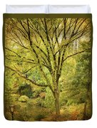 Central Park In Autumn Texture 5 Duvet Cover