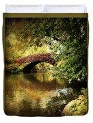 Central Park In Autumn Texture 6 Duvet Cover