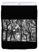 Central Park In Black And White Duvet Cover