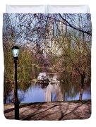Central Park Sidewalk Duvet Cover