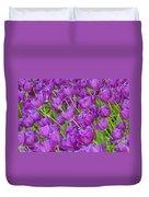 Central Park Spring-purple Tulips Duvet Cover