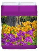 Central Park Tulip Display Duvet Cover