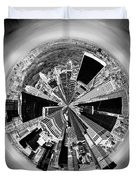 Central Park View Bw Duvet Cover