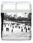 Central Park Winter Carnival Duvet Cover
