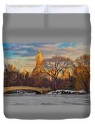 Central Parks Famous Bow Bridge Duvet Cover