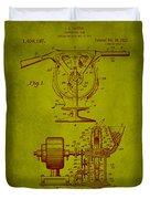 Centrifugal Gun Patent Drawing 3j Duvet Cover