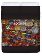 Ceramic Dishes Duvet Cover