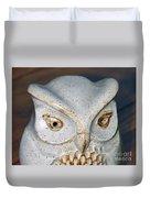 Ceramic Owl. Duvet Cover